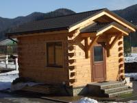 Строительство деревянного дома охраны Гута 18