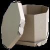 Коробка самозбірна вісьмикутна з кришкою / Коробка самосборная восьмиугольная с крышкой