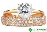 Кольца золотые с драгоценными камнями