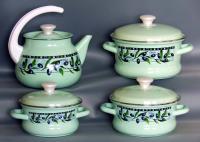 Набор эмалированной посуды Оливки
