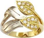 Кольца из белого и желтого золота с камнями